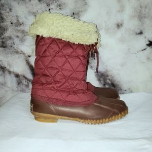 Sporto vintage insulted duck winter boots size 8